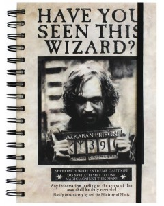 Harry Potter - Carnet spirales Sirius Wanted