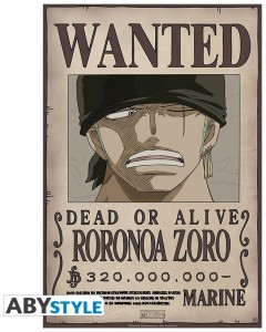 One Piece - poster Wanted Zoro New
