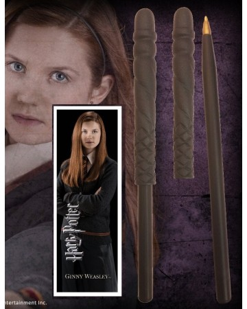 Harry Potter - Stylo baguette + marque-page Ginny Weasley