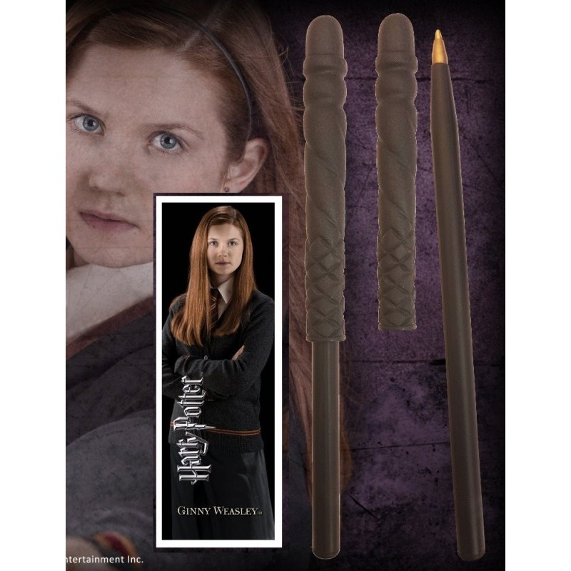 Noble Collection Harry Potter Baguette Stylo Et Marque Page De