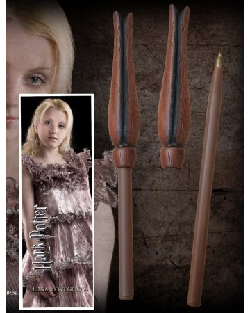 Harry Potter - Stylo baguette + marque-page Luna Lovegood