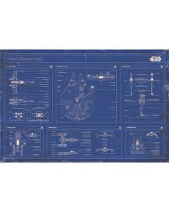 Star Wars - grand poster Rebel Alliance Fleet Blueprint
