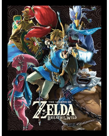 Zelda - poster encadré Breath Of Wild - Divine Beasts Collage
