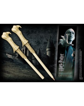 Harry Potter - Stylo baguette + marque-page Voldemort