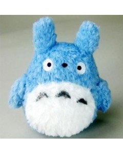 Mon voisin Totoro - peluche fluffy Totoro bleu (12 cm)