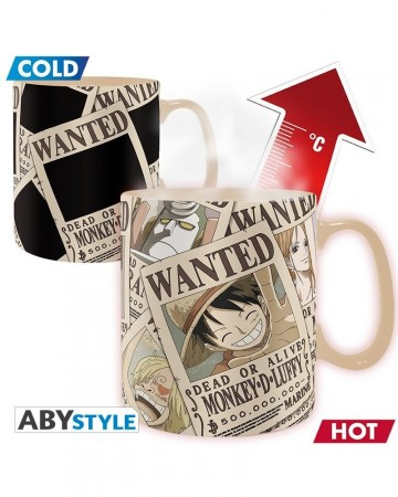 One Piece - Mug thermo-réactif Wanted