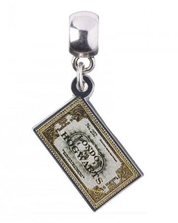 Harry Potter - Breloque plaqué argent Ticket Hogwarts Express