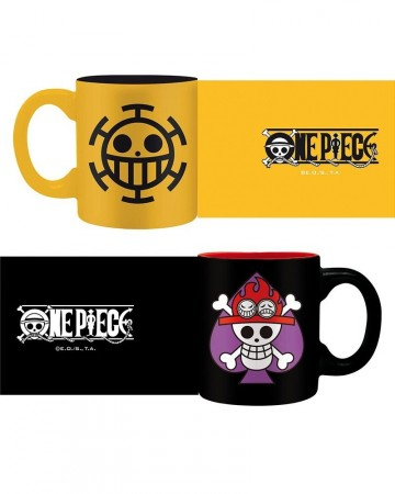 One Piece - Set de 2 tasses Ace & Trafalgar emblems