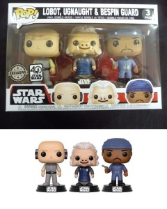 Star Wars - Pop! - 3-Pack Lobot, Ugnaught, Bespin Guard