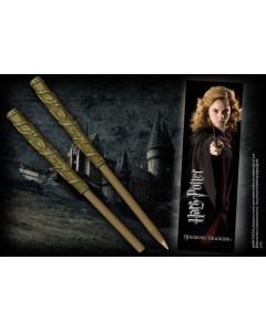 Harry Potter - Stylo baguette + marque-page Hermione