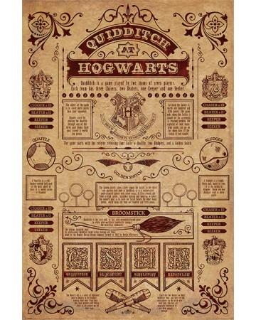 Harry Potter - grand poster Quidditch at Hogwarts V2 (61 x 91,5 cm)