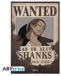 One Piece - poster Wanted Shanks