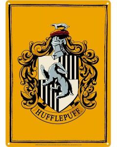 Harry Potter - Panneau métallique Hufflepuff