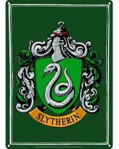 Harry Potter - Panneau métallique Slytherin