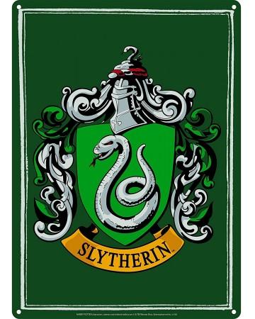 Harry Potter - Panneau métallique Slytherin