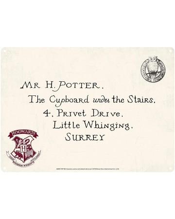 Harry Potter - Panneau métallique Letter