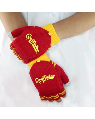Harry Potter - gants moufles mitaines Gryffindor (rouge)