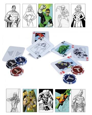 DC Comics - Jeu cartes Poker Set Starter Pack Justice League