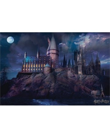 Harry Potter - grand poster Hogwarts (61 x 91,5 cm)