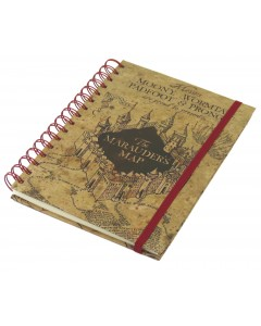 Harry Potter - Carnet spirales Marauder's Map