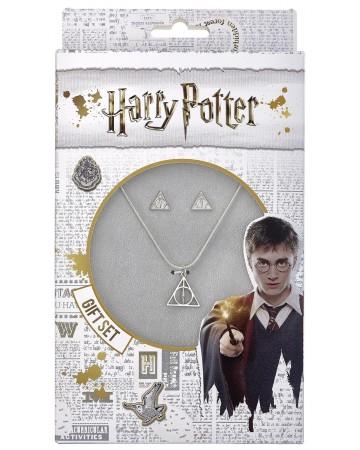 Harry Potter - Set collier et boucles d'oreilles Deathly Hallows