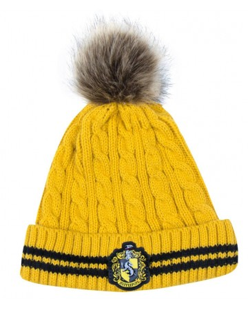 Harry Potter - Bonnet pompon Hufflepuff