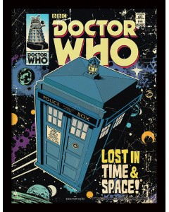 Doctor Who - poster encadré Tardis Lost In Time And Space