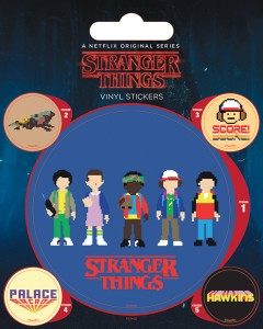 Stranger Things - set de stickers Arcade