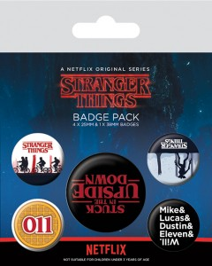Stranger Things - set de 5 badges Upside Down