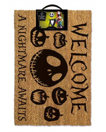 Nightmare Before Christmas Paillasson Welcome A Nightmare Awaits
