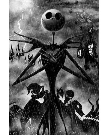Nightmare Before Christmas - Grand poster Jack Storm (61 x 91,5 cm)
