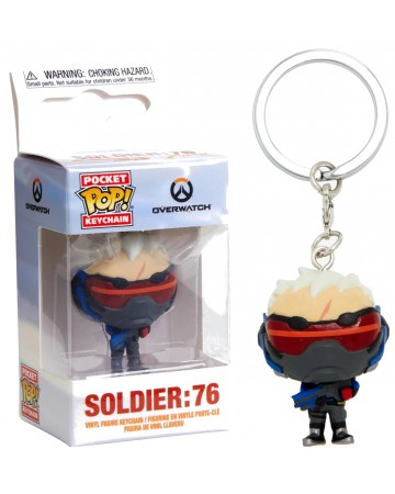 Overwatch - Pop! Pocket - porte-clé Soldier 76