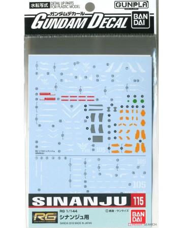 Gundam Decal (RG) for Sinanju