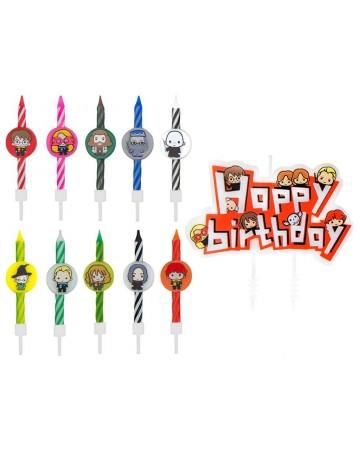 Harry Potter - 10 bougies d'anniversaire Kawaii
