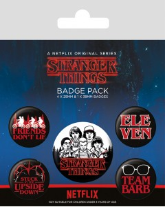 Stranger Things - set de 5 badges Characters