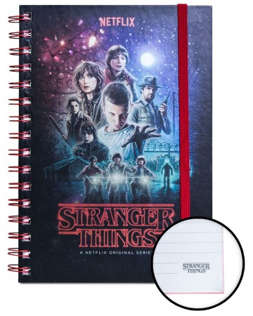 Stranger Things - Carnet spirales A5