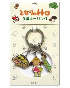 Mon Voisin Totoro - Porte-clé métal Mei, Chatbus & épi de maïs