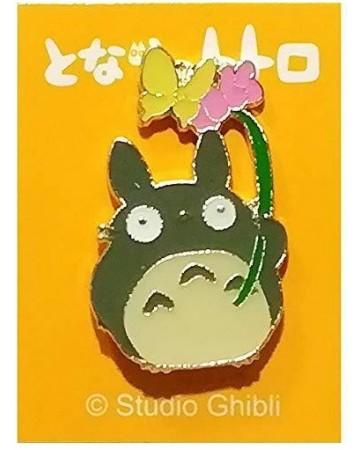 Mon Voisin Totoro - Pins Totoro gris et fleurs