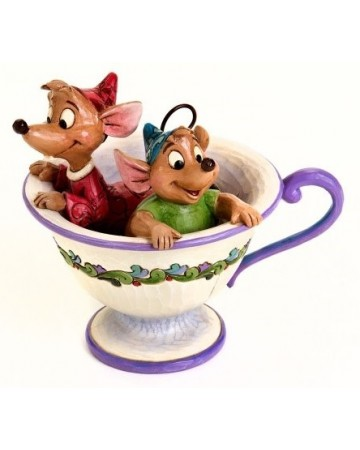 Disney - Traditions - Jaq and Gus in Tea Cup (Cinderella)