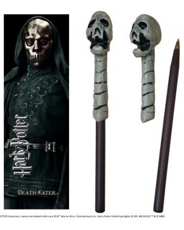 Harry Potter - Stylo baguette + marque-page Deatheater Skull