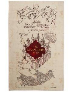 Harry Potter - Serviette torchon Marauder's Map
