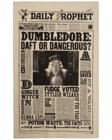 Harry Potter - Serviette torchon Daily Prophet : Dumbledore Daft or Dangerous?