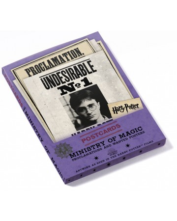 Harry Potter - Set de 20 cartes postales Ministry of Magic Proclamations and Wanted Posters
