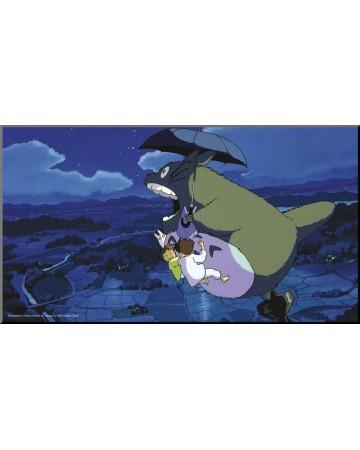 Mon voisin Totoro - poster en bois laminé Parapluie 37,5 x 20,5 cm