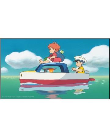 Ponyo sur la falaise - poster en bois laminé 37,5 x 20,5 cm