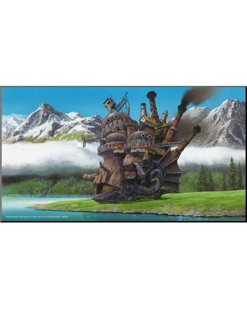 Howl's Moving Castle - poster en bois laminé 37,5 x 20,5 cm