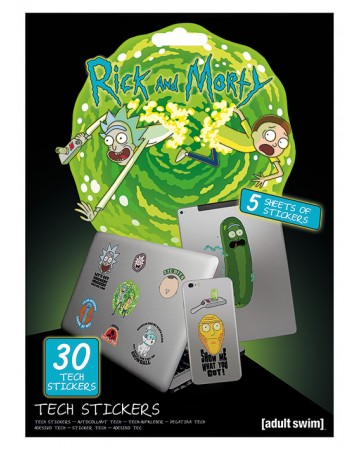 Rick and Morty - Set de 30 stickers