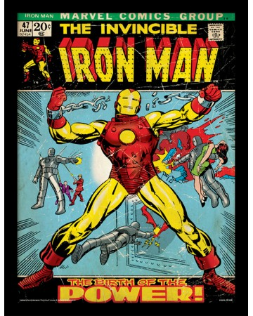 Marvel - poster encadré Iron Man (Birth Of Power