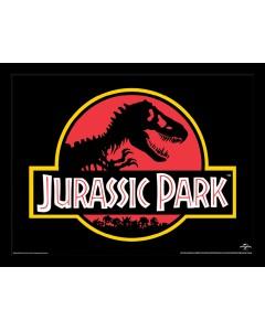 Jurassic Park - Poster encadré Classic Logo 30 x 40 cm