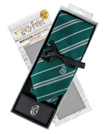 Harry Potter - cravate + pins Slytherin